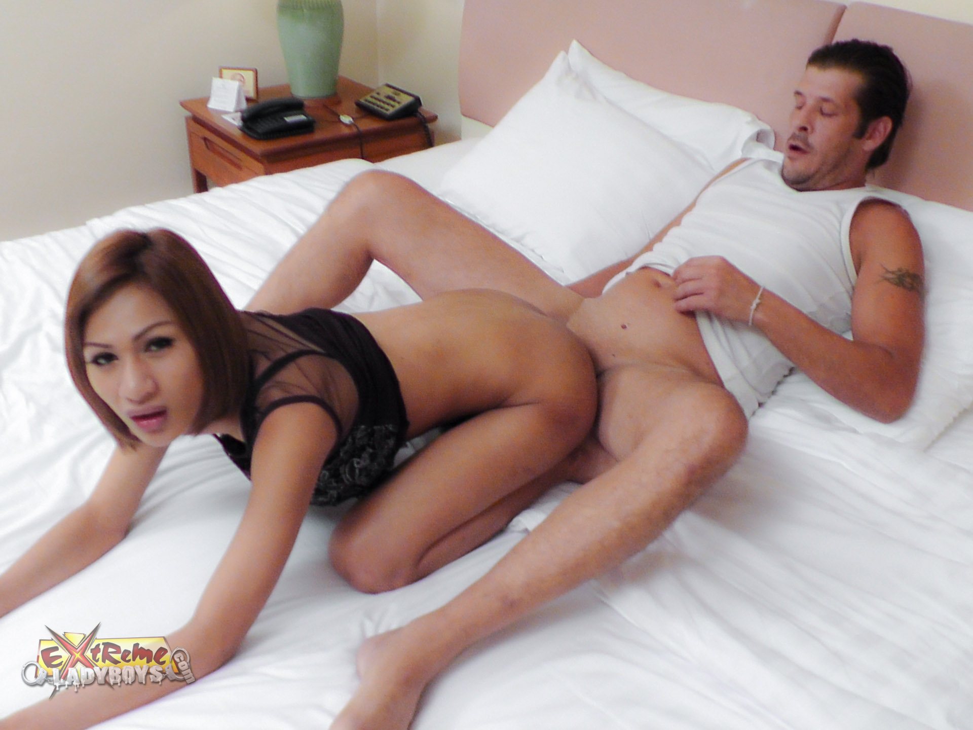Asian shemale ass fuck will not